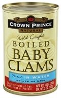 Crown Prince Natural - Boiled Baby Clams - 10 oz.