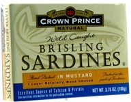 Crown Prince Natural - Brisling Sardines in Mustard - 3.75 oz., from category: Health Foods