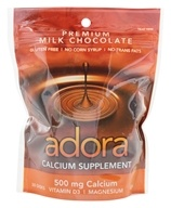 Adora - Calcium Supplement Milk Chocolate 500 mg. - 30 Count by Adora