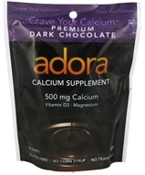 Adora - Calcium Supplement Dark Chocolate 500 mg. - 30 Count by Adora