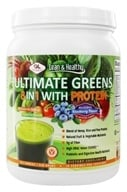 Olympian Labs - Ultimate Greens Protein 8 in 1 with Hemp Protein Blueberry Flavor - 18.3 oz.