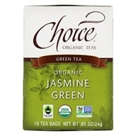 Choice Organic Teas - Jasmine Green Tea - 16 Tea Bags