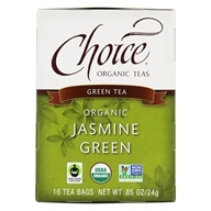 Choice Organic Teas - Jasmine Green Tea - 16 Tea Bags, from category: Teas