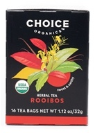 Choice Organic Teas - Rooibos Red Bush Tea Caffeine Free - 16 Tea Bags (047445919436)