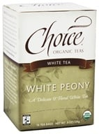 Choice Organic Teas - White Peony Tea - 16 Tea Bags Formerly White Classic (047445919535)