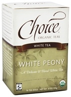 Choice Organic Teas - White Peony Tea - 16 Tea Bags Formerly White Classic - $3.29