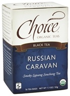 Choice Organic Teas - Black Tea Russian Caravan - 16 Tea Bags (formerly Smoked Pine) by Choice Organic Teas
