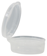 Image of Frontier Natural Products - Plastic Lip Balm Container With Snap Lid - 0.25 oz.
