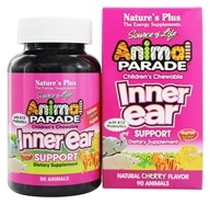 Nature's Plus - Animal Parade Inner Ear Support Cherry - 90 Chewable Tablets - $14.34