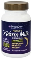 Dream Quest Nutraceuticals - Nutraceuticals Adult's Warm Milk Dreamy Vanilla Flavor - 30 Chewable Tablets by Dream Quest Nutraceuticals