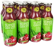Image of Cell Nique - Super Green Drink Pomegranate - 12 oz.