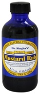 Dr. Singha's Natural Therapeutics - Mustard Rub - 4 oz. - $9.99