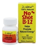 World Organic - No Shot B 12 100% Natural - 100 Tablets (076635605408)