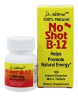 Image of World Organic - No Shot B 12 100% Natural - 100 Tablets