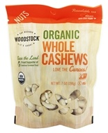 Woodstock Farms - Organic Whole Large Unsalted Cashews - 7 oz. by Woodstock Farms