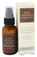John Masters Organics - Face Serum Hydrating Green Tea and Rose - 1 oz. by John Masters Organics