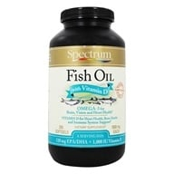 Spectrum Essentials - Fish Oil with Vitamin D 1000 mg. - 250 Softgels - $19.98