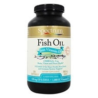 Spectrum Essentials - Fish Oil with Vitamin D 1000 mg. - 250 Softgels, from category: Nutritional Supplements