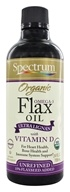 Spectrum Essentials - Organic Flax Oil Omega-3 Ultra Lignan with Vitamin D - 24 oz.