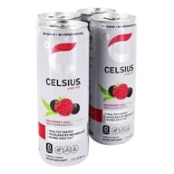 Celsius - Non-Carbonated Healthy Energy Green Tea Raspbery Acai - 4 Can(s)