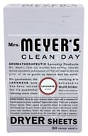 Image of Mrs. Meyer's - Clean Day Dryer Sheets Lavender - 80 Sheet(s)