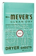 Mrs. Meyer's - Clean Day Dryer Sheets Basil - 80 Sheet(s) by Mrs. Meyer's