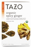 Tazo - Herbal Tea Caffeine Free Organic Spicy Ginger - 20 Tea Bags by Tazo
