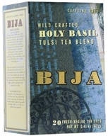 Flora - Bija Wild Crafted Holy Basil Tulsi Tea Blend Caffeine-Free - 20 Tea Bags by Flora