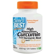 Doctor's Best - Best Curcumin C3 Complex With BioPerine 1000 mg. - 120 Tablets (753950001954)