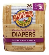 Image of Earth's Best - TenderCare Chlorine Free Diapers Size Five 27+ lbs. - 25 Diaper(s)