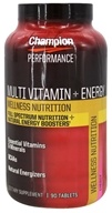 Champion Nutrition - Wellness Nutrition Multi Vitamin + Energy - 90 Tablets CLEARANCED PRICED - $7.48