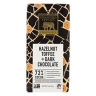 Endangered Species - Dark Chocolate Bar with Hazelnut Toffee 72% Cocoa - 3 oz. (037014242256)