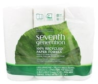 Seventh Generation - Paper Towels 100% Recycled White 2-Ply 140 Sheets - 6 Roll(s) by Seventh Generation