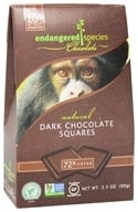 Endangered Species - Dark Chocolate Squares Bite Size Bars 72% Cocoa - 10 Piece(s), from category: Health Foods