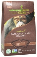 Image of Endangered Species - Dark Chocolate Squares Bite Size Bars 72% Cocoa - 10 Piece(s)