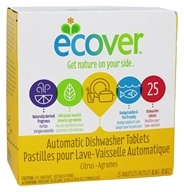 Image of Ecover - Ecological Automatic Dishwasher Tablets 25 Loads - 17.6 oz.