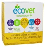 Ecover - Ecological Automatic Dishwasher Tablets 25 Loads - 17.6 oz.