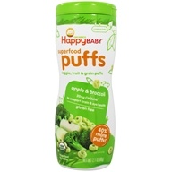 HappyBaby - Happy Puffs Organic SuperFoods Apple - 2.1 oz., from category: Health Foods