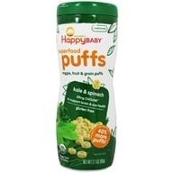 HappyBaby - Happy Puffs Organic SuperFoods Greens - 2.1 oz. (852697001200)