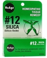 NuAge - #12 Silica Homeopathic Tissue Remedy - 125 Tablets