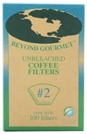 Beyond Gourmet - Unbleached Coffee Filters #2 Cone Style - 100 Filter(s) by Beyond Gourmet
