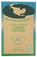 Beyond Gourmet - Unbleached Coffee Filters #2 Cone Style - 100 Filter(s), from category: Housewares & Cleaning Aids