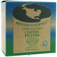 Beyond Gourmet - Unbleached Coffee Filters Basket Style - 100 Filter(s) by Beyond Gourmet