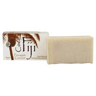 Organic Fiji - Face and Body Coconut Oil Bar Soap Pineapple Coconut - 7 oz. (833884000794)