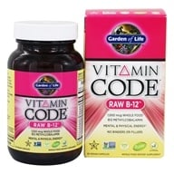 Garden of Life - Vitamin Code RAW B-12 1000 mcg. - 30 Vegetarian Capsules, from category: Vitamins & Minerals