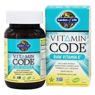 Garden of Life - Vitamin Code RAW Vitamin E - 60 Vegetarian Capsules, from category: Vitamins & Minerals