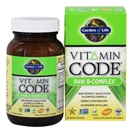 Garden of Life - Vitamin Code RAW B-Complex - 60 Vegetarian Capsules, from category: Vitamins & Minerals