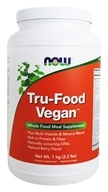 NOW Foods - Tru-Food Vegan Whole Food Meal Supplement Natural Berry - 2.2 lbs. (733739027252)