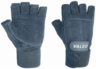 Image of Valeo Inc. - Performance Wrist Wrap Lifting Gloves- Black- Large - 1 Pair