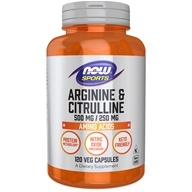 NOW Foods - Arginine & Citrulline 500/250 - 120 Capsules, from category: Sports Nutrition